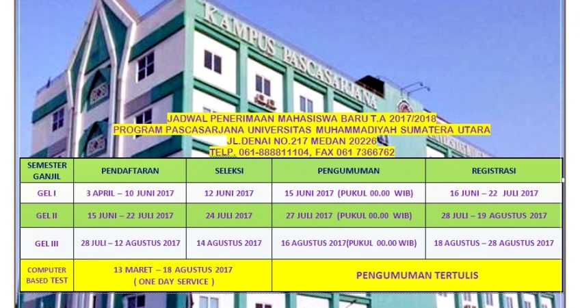 PROGRAM PASCASARJANA UMSU TA.2017/2018